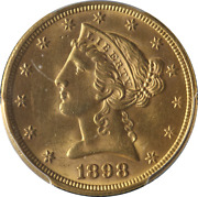 1898-p Liberty Gold 5 Pcgs Ms64 Great Eye Appeal Fantastic Luster Nice Strike