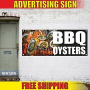 Bbq Oysters Advertising Banner Vinyl Mesh Decal Sign Barbeque Seafood Grill Fair
