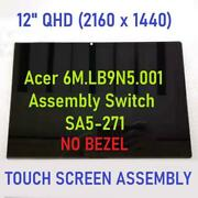 12-inch Led Lcd Monitor Component Glass Panel For Acer Switch Alpha 12n16p3