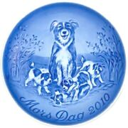 Bing And Grondahl 2010 Motherandrsquos Day Plate Bandg Border Collie And Pups Mint