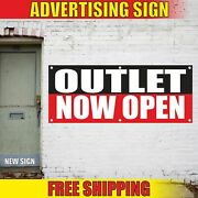 Outlet Now Open Advertising Banner Vinyl Mesh Decal Sign Brand Shop Sales Store