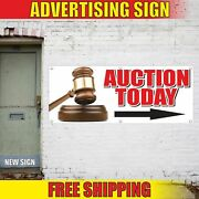 Auction Today Right Arrow Advertising Banner Vinyl Mesh Decal Sign Sale Tender