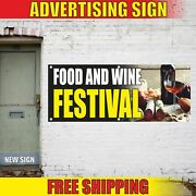 Food And Wine Festival Advertising Banner Vinyl Mesh Decal Sign Meat Bbq Fair