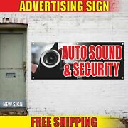 Auto Sound And Security Advertising Banner Vinyl Mesh Decal Sign Accessories Shop