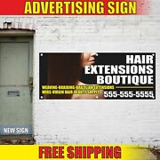 Hair Extensions Boutique Advertising Banner Vinyl Mesh Decal Sign Salon Barber