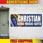 Christian Book Music Gifts Advertising Banner Vinyl Mesh Decal Sign Bibles Jesus