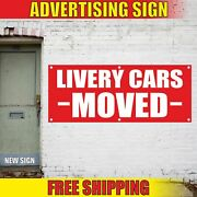 Livery Cars Moved Advertising Banner Vinyl Mesh Decal Sign New Location Adress