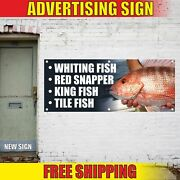 Whiting Fish Red Snapper King Fish Tile Advertising Banner Vinyl Mesh Decal Sign