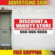 Discount And Variety Store Advertising Banner Vinyl Mesh Decal Sign Houseware Gift