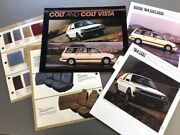 1984 Dodge Colt And Vista 16-page Car Sales Brochure Catalog And Fabric Guide