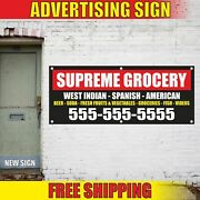Supreme Grocery Advertising Banner Vinyl Mesh Decal Sign West India Spanish Numb