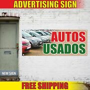 Autos Usados Advertising Banner Vinyl Mesh Decal Sign Spanish Used Cars Loans 24