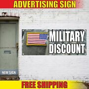 Military Discount Advertising Banner Vinyl Mesh Decal Sign Support Troops Sale