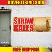 Straw Bales Advertising Banner Vinyl Mesh Decal Sign Hay For Sale Grass Building