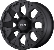 Helo He878 17x9 Black Wheels Rims 33 Mt Tires Package 6x5.5 For Toyota Tacoma