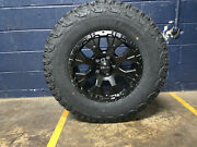 Helo He878 17x9 Black Wheels Rims 33 At Tires Package 6x5.5 Chevy Tahoe