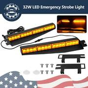 32w Led Emergency Strobe Light Windshield Mount Visor Light Amber Signal Lights