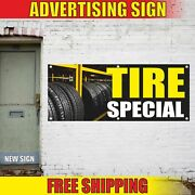 Tire Special Advertising Banner Vinyl Mesh Decal Sign Auto Repair Install Servic