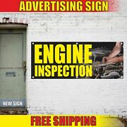 Engine Inspection Advertising Banner Vinyl Mesh Decal Sign Free Check Service 24
