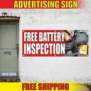 Free Battery Inspection Advertising Banner Vinyl Mesh Decal Sign Tires Brakes 24