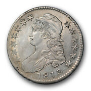 1813 50c Capped Bust Half Dollar Extra Fine To About Uncirculated R16