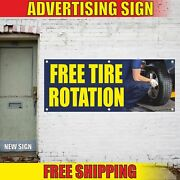 Free Tire Rotation Advertising Banner Vinyl Mesh Decal Sign Inspection Repair 24