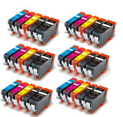 Ink Cartridges Set For 220 221 Works For Canon Pixma Mp620 Mp640 Mx860 Mx870