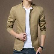 Hot Men Fashion Coat Cotton Stand Collar Casual Slim Outwear Size M-5xl Overcoat