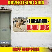 No Trespassing Guard Dogs Advertising Banner Vinyl Mesh Decal Sign Caution Area