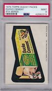 1974 Topps Wacky Packs Ducko Cement Psa 9 Mint Series 9 Packages Centered