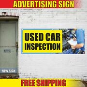 Used Car Inspection Advertising Banner Vinyl Mesh Decal Sign New Auto Sale Parts