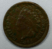 1c One Cent Penny 1864 F/vf Indian Head