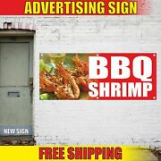 Bbq Shrimp Advertising Banner Vinyl Mesh Decal Sign Sea Food Crab Grill Barbecue
