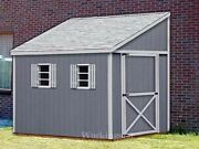 6and039 X 12and039 Slant / Lean To Style Shed Plans / Building Blueprints And Guides E0612
