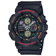 Casio G-shock Ga140-1a4 Utility Black Analog-digital Watch 90and039s Colors New 2019