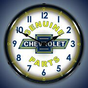 Chevy Parts Vintage Wall Clock, Led Lighted