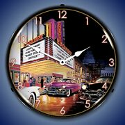 Esquire Theatre Wall Clocks, Led Lighted Bruce Kaiser