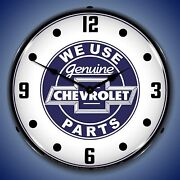 We Use Chevrolet Parts Wall Clock, Led Lighted