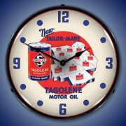 Skelly Motor Oil Wall Clock Led Lighted