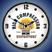 Supertest High Compression Wall Clock, Led Lighted Parts / Service Theme