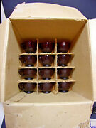 Nos Anchor Hocking Royal Ruby Red Punch Bowl Base And 12 Cups