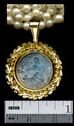 14k Antique Chinese Mother Pearl Gaming Chip Sm.pendant