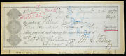 Obsolete Bank Check Certified Check W/ Letter Certification Henry Blake 1880
