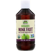 Now Foods Organic Monk Fruit Zero Calorie Liquid Sweetener 8 Oz - Sale