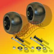2 Plastic 5 Deck Wheels For Exmark And Other Makes And Models