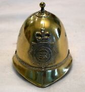 Vintage Small Miniature Brass Metro London Police Bobby Had Dinner/service Bell