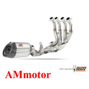 Full Exhaust System Steel Mivv Yamaha Yzf 600 R6 2014 14 Motorcycle