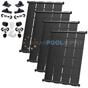 Industrial Grade Diy Solar Pool Heater System Kit - 4 4and039 X 12.5and039 / 200 Sq. Ft