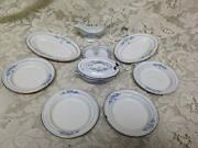 Antique Germany 10-pc White Enamelware With Trim Childand039s Dinner Set For 4