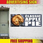 Classic Apple Pie Advertising Banner Vinyl Mesh Decal Sign Homemade Delicious